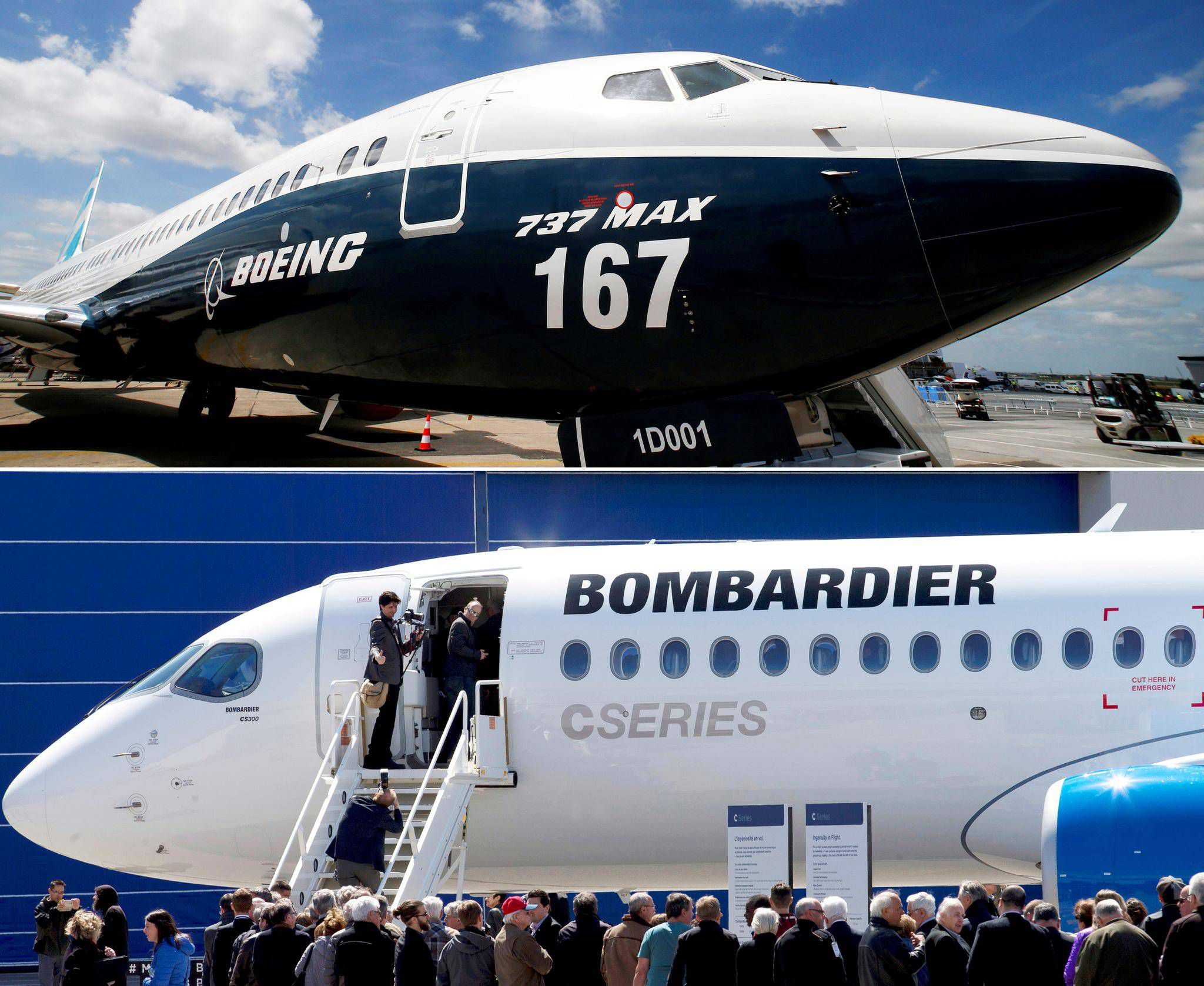 Meglepődött  és jól fogadta a hírt a  Bombardier , hiszen az Egyesült Államok Kereskedelmi Minisztériuma visszautasította a Boeing kereskedelmi perügyeit